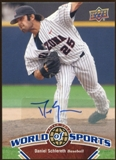2010 Upper Deck World of Sports Autographs #128 Daniel Schlereth