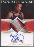 2006/07 Exquisite Collection #61 Marcus Williams Rookie Patch Auto #200/225
