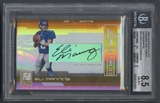 2006 Donruss Elite #24 Eli Manning & Phil Simms Passing the Torch Auto #21/49 BGS 8.5