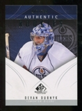 2009/10 Upper Deck SP Game Used #158 Devan Dubnyk RC /699