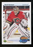 2010/11 Upper Deck 20th Anniversary Parallel #209 Henrik Karlsson YG