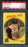 1959 Topps Baseball #110 George Witt PSA 8 (NM-MT) (OC) *7285