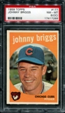 1959 Topps Baseball #177 Johnny Briggs PSA 8 (NM-MT) (OC) *7289