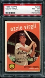 1959 Topps Baseball #203 Ozzie Virgil PSA 8 (NM-MT) (OC) *7290