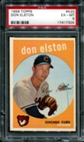 1959 Topps Baseball #520 Don Elston PSA 6 (EX-MT) *7305