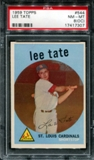 1959 Topps Baseball #544 Lee Tate PSA 8 (NM-MT) (OC) *7307