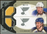 2010/11 Upper Deck SPx Winning Combos Patches #WCBB David Backes Patrik Berglund 5/15