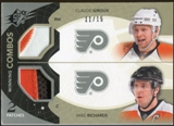 2010/11 Upper Deck SPx Winning Combos Patches #WCGR Claude Giroux Mike Richards 11/15