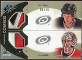 2010/11 Upper Deck SPx Winning Combos Patches #WCSW Eric Staal Cam Ward 9/15