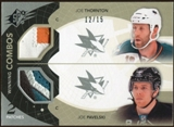 2010/11 Upper Deck SPx Winning Combos Patches #WCTP Joe Pavelski Joe Thornton 12/15