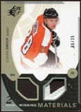 2010/11 Upper Deck SPx Winning Materials Patches #WMCG Claude Giroux 6/35