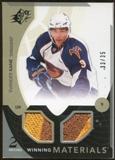 2010/11 Upper Deck SPx Winning Materials Patches #WMEK Evander Kane 33/35