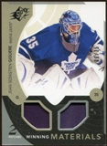 2010/11 Upper Deck SPx Winning Materials Patches #WMJG Jean-Sebastien Giguere 6/35