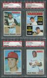 1970 Topps Baseball Complete Set (NM) With 8 PSA Graded Cards
