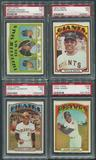 1972 Topps Baseball Complete Set (NM) With 8 PSA Graded Cards