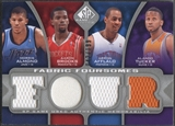 2009/10 SP Game Used #F4AATB Aaron Brooks Arron Afflalo Morris Almond Alando Tucker Jersey #042/199