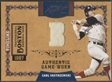 2008 Playoff Prime Cuts #10 Carl Yastrzemski Timeline Location Jersey #14/15