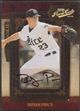 2008 Playoff Prime Cuts #124 Bryan Price Rookie Auto #134/249