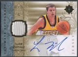 2006/07 Ultimate Collection #AULR Luke Ridnour Jersey Auto #01/75