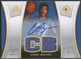 2007/08 Ultimate Collection #CB Corey Brewer Materials Rookie Jersey Auto