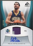 2006/07 SP Game Used #137 Peja Stojakovic Patch Auto #07/10