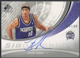 2005/06 SP Game Used #MB Mike Bibby SIGnificance Auto #055/100