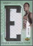 "2007/08 Chronology #251 Jeff Green Letter ""E"" Patch #244/250"