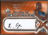 2006/07 SP Game Used #RF Randy Foye Rookie Exclusive Auto #053/100