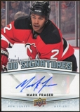 2010/11 Upper Deck Signatures #UDSMF Mark Fraser Autograph