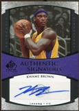 2005/06 Upper Deck SP Signature Edition Signatures #KB Kwame Brown Autograph