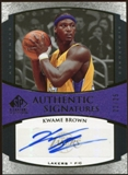2005/06 Upper Deck SP Signature Edition Signatures Gold #KB Kwame Brown Autograph /25
