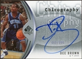 2006/07 Upper Deck SP Authentic Chirography #DB Dee Brown Autograph /100