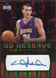 2006/07 Upper Deck UD Reserve Signatures #MM Chris Mihm Autograph
