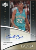 2006/07 Upper Deck Trilogy Generations Future Signatures #FSCS Cedric Simmons Autograph