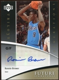 2006/07 Upper Deck Trilogy Generations Future Signatures #FSRO Ronnie Brewer Autograph