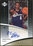 2006/07 Upper Deck Trilogy Generations Future Signatures #FSSB Shannon Brown Autograph