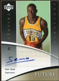 2006/07 Upper Deck Trilogy Generations Future Signatures #FSSS Saer Sene Autograph