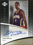 2006/07 Upper Deck Trilogy Generations Future Signatures #FSSW Shawne Williams Autograph