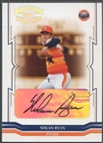 2005 Throwback Threads #291 Nolan Ryan Signature Marks Auto #07/10