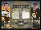 2006/07 Upper Deck Artifacts Boston Bruins Tundra Jerseys Ray Bourque / Johhny Bucyk # 4/10