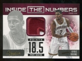 2012/13 Panini Prestige Kyrie Irving Inside The Numbers Seam Patch # 9/25 RARE