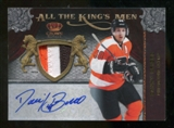 2011/12 Crown Royale Danny Briere Auto All The Kings Men 3 Col Seam Patch # 3/10