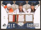 2009/10 UD SP Game Used SPGU Six Fabrics Patches Crosby / Malkin/ Staal / Giroux  # 3/5