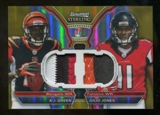 2011 Topps Bowman Sterling AJ Green / Julio Jones Patchs Serial # 1/5 Ultra Rare