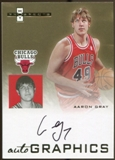 2007/08 Fleer Hot Prospects Autographics #AG Aaron Gray Autograph