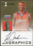 2007/08 Fleer Hot Prospects Autographics #JD3 Jermareo Davidson Autograph