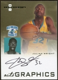 2007/08 Fleer Hot Prospects Autographics #JW Julian Wright Autograph