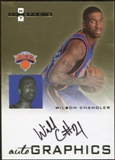 2007/08 Fleer Hot Prospects Autographics #WC Wilson Chandler Autograph