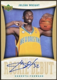 2007/08 Upper Deck Rookie Debut Signatures #JW Julian Wright Autograph