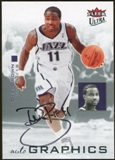 2007/08 Fleer Ultra SE Autographics Black #AUDB Dee Brown Autograph